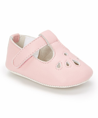 L Amour Angel Baby Shoes Girls Perforated T Strap Crib