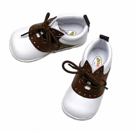 L'Amour Angel Baby / Toddler Boys / Girls Saddle Oxfords - Brown and White