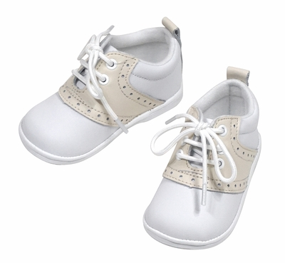 L'Amour Angel Baby / Toddler Boys Saddle Shoes - White / Beige