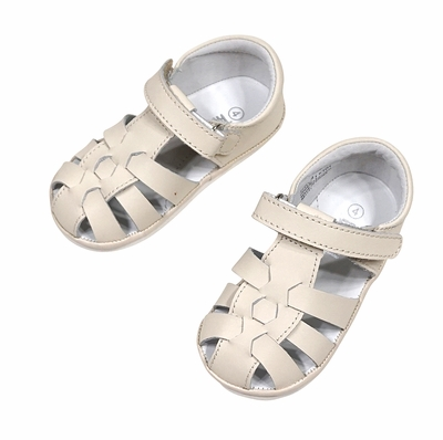 L'Amour Angel Baby / Toddler Fisherman Sandals - Beige
