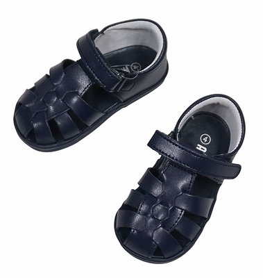 L'Amour Angel Baby / Toddler Fisherman Sandals - Navy Blue