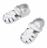 L'Amour Angel Baby / Toddler Fisherman Sandals - White