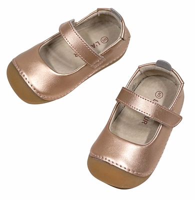 L'Amour Angel Baby / Toddler Girls Mary Janes Shoes - Copper