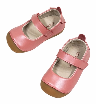 L'Amour Angel Baby / Toddler Girls Mary Janes Shoes - Pink Guava Shimmer