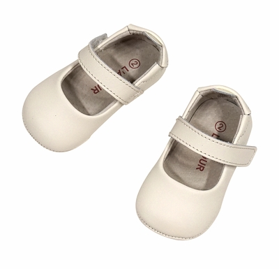 L'Amour Angel Baby / Toddler Girls Soft Leather Mary Janes Shoes - Cream