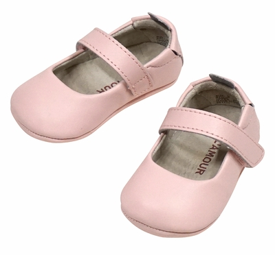 L'Amour Angel Baby / Toddler Girls Soft Leather Mary Janes Shoes - Pink