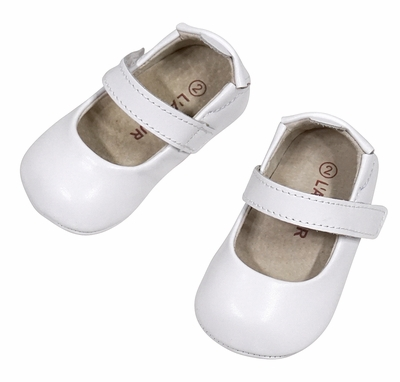 L'Amour Angel Baby / Toddler Girls Soft Leather Mary Janes Shoes - White