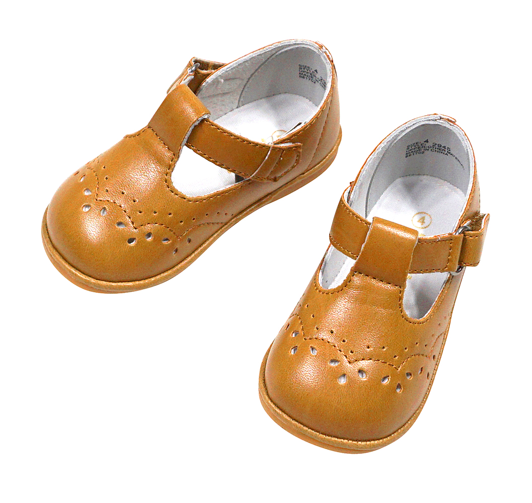 84d4f3b9eeaf9 L'Amour Angel Baby / Toddler Girls T-Strap Shoes - Spicy Mustard