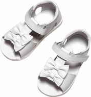 L'Amour Angel Infant / Toddler Girls White Double Bow Sandals