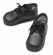 L'Amour Angel James Leather Dressy Oxfords Shoes for Boys - Black