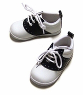 L'Amour Angel Baby / Toddler Boys / Girls Leather Saddle Oxfords Shoes - Navy Blue & White