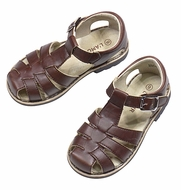 L'Amour Boys / Girls Classic Fisherman Sandals - Brown