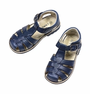 L'Amour Boys / Girls Classic Fisherman Sandals - Navy Blue