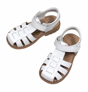 L'Amour Boys Shoes - Fisherman Sandals - White