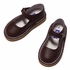 L'Amour Girls Leather Mary Janes Shoes - Chocolate Brown