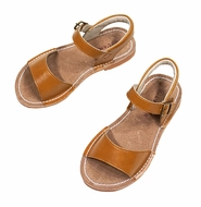L'Amour Girls Shoes - Stitch Down Sandals - Mustard