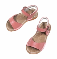 L'Amour Girls Shoes - Stitch Down Sandals - Pink Guava Shimmer