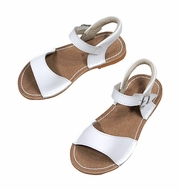 L'Amour Girls Shoes - Stitch Down Sandals - White