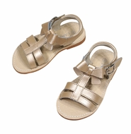 L'Amour Girls Shoes - Strap Sandals with Bow - Champagne Shimmer
