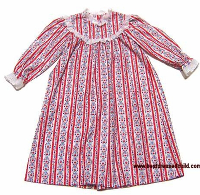 1b42a534e599 Lanz of Salzburg Girls Red Tyrolean Holiday Nightgown