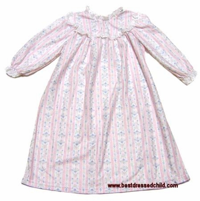 5b0d1dc873 Lanz of Salzburg Girls Traditional Pastel PINK Tyrolean Nightgowns