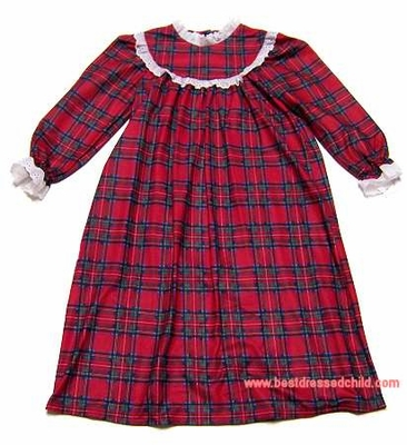 c34647f774c2 Lanz of Salzburg Sleepwear - Classic Toddler Girls Christmas Red ...