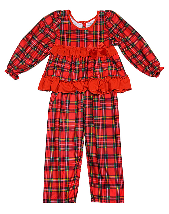 laura dare new icm girls red christmas holiday plaid pajamas - Christmas Pjs Toddler
