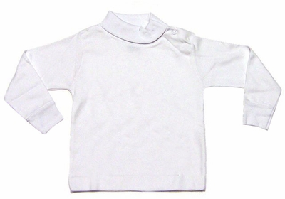 Le Top Girls / Boys Turtleneck Shirt - Snaps on Infant Sizes - White