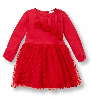 Le Top Girls Red Dot Tulle Christmas Dress