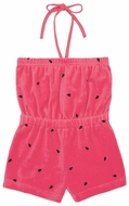 Le Top Girls Red Velour Novelty Watermelon Romper