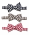Le Za Me Boys Houndstooth Bow Ties - Choose Black / Brown / Red - Bow Tie