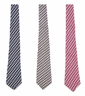 Le Za Me Boys Houndstooth Neck Ties - Choose Black / Brown / Red - Necktie