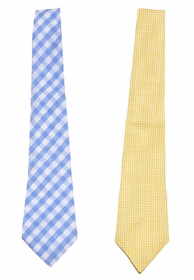 Le Za Me Boys Spring / Easter Neck Ties - Choose Blue / Yellow
