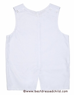 Le Za Me Infant / Toddler Boys Classic White Shortall - Perfect for Beach Portraits
