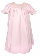 Le Za Me Infant / Toddler Girls Smocked Bishop Dress - Pink