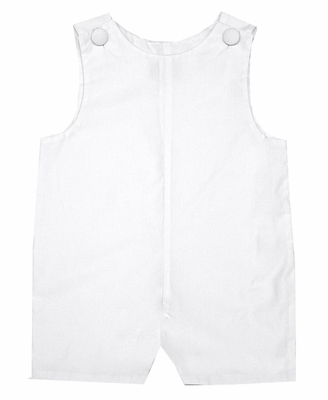 Le Za Me Kids Boys Simple and Classic White Shortall Suit - Beach Portraits