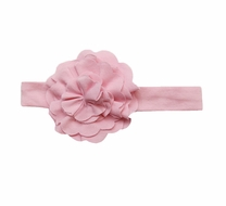 Lemon Loves Layette Baby Girls Rose Shadow Pink Lily Pad Headband