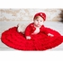 Lemon Loves Lime Baby Girls Round Rose Wrap Circular Blanket - True Red