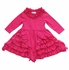 Lemon Loves Lime Baby Girls Zoe Ruffle Dress - Cabaret Hot Pink