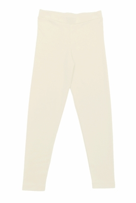 Lemon Loves Lime Girls Basic Leggings - Eggnog Ivory