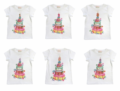 Lemon Loves Lime Girls Birthday Party Shirts - Number Candle for Specific Year