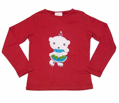 Lemon Loves Lime Girls Christmas Red Skater Cub Shirt