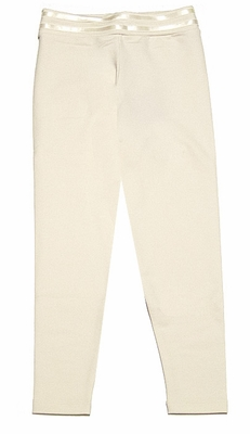 Lemon Loves Lime Girls Skinny Leggings - Eggnog / Ivory