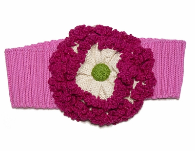 Lemon Loves Lime Girls Floral Headband - Pink