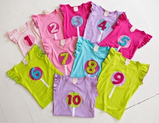 Lemon Loves Lime Girls Special Lollipop Birthday Year Shirt - Colors