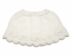 Lemon Loves Lime Girls Sweater Knit Bow Skirt - Winter White