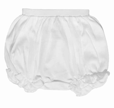 Lemon Loves Lime Layette Baby Girls Bella Bloomers - White