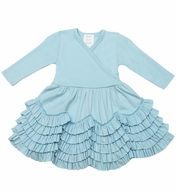 Lemon Loves Lime Layette Baby Girls Jada Dress - Cinderella Blue