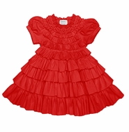 Lemon Loves Lime Layette Baby Girls Red Ruffles Jane Christmas Dress