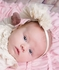 Lemon Loves Lime Layette Baby Girls Rose Headband - Eggnog Ivory